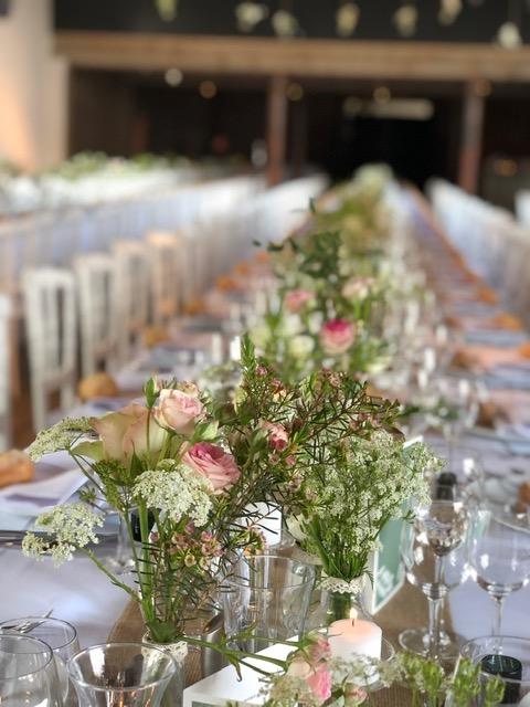 Décoration table mariage Traiteur Léonard